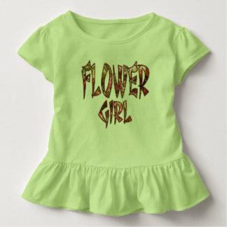 カスタマイズ可能なフラワー・ガールの幼児のひだのティー トドラーTシャツ