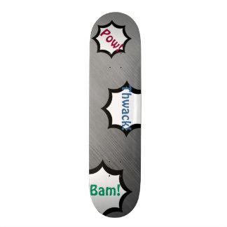 カスタマイズ可能なブラシをかけられた鋼鉄速度の一見の灰色白 スケートボード