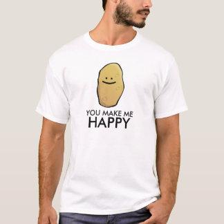 カスタマイズ可能なポテトの顔文字 Tシャツ
