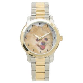 カスタマイズ可能なポメラニア犬犬 腕時計