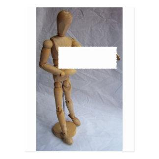 カスタマイズ可能なメッセージの芸術家のマネキン ポストカード