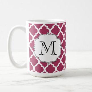 カスタマイズ可能なモノグラムが付いているサングリエのモロッコのタイル コーヒーマグカップ