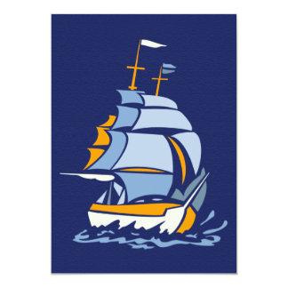 カスタマイズ可能なヨットの招待 カード