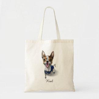カスタマイズ可能なラットテリア犬の水彩画の絵画 トートバッグ