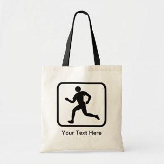 カスタマイズ可能なランナーのロゴ トートバッグ