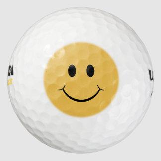 カスタマイズ可能なレトロのスマイリー ゴルフボール