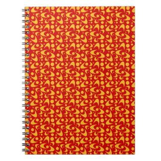 カスタマイズ可能なレトロのブーメラン ノートブック