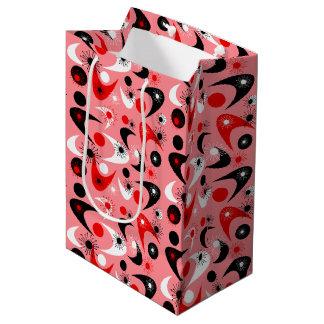 カスタマイズ可能なレトロのブーメラン ミディアムペーパーバッグ