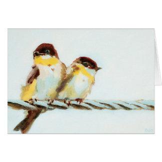 カスタマイズ可能なワイヤーの鳥 カード