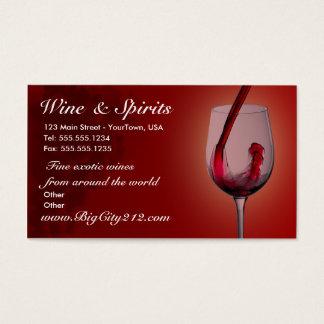 カスタマイズ可能なワインショップの名刺 名刺