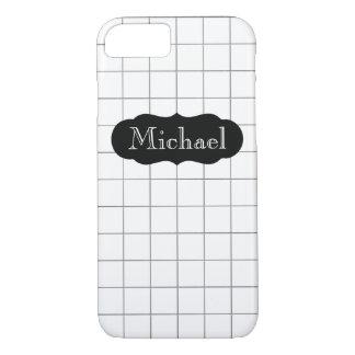 カスタマイズ可能な一流の数学の方眼紙のiPhone 7 iPhone 8/7ケース