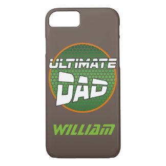 カスタマイズ可能な一流の緑およびオレンジを持つ最も最高のなパパ iPhone 7ケース