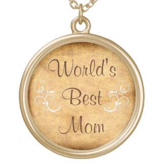 カスタマイズ可能な世界で最も最高のなお母さんのネックレス ゴールドプレートネックレス