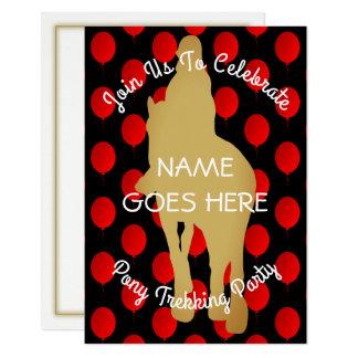 カスタマイズ可能な乗馬のパーティの招待状 カード