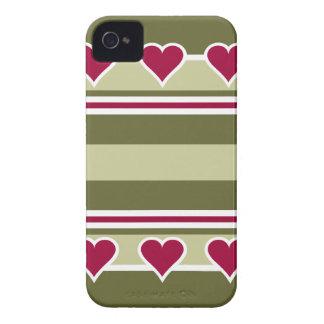 カスタマイズ可能な休日のモチーフのブラックベリーのはっきりしたな箱- Case-Mate iPhone 4 ケース