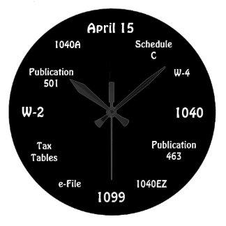 カスタマイズ可能な会計士の時計-税のタイムレコーダー ラージ壁時計