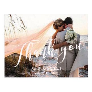 カスタマイズ可能な写真の結婚式は感謝していしています ポストカード