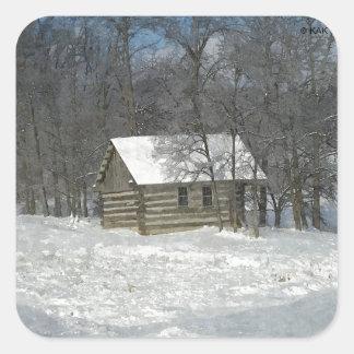 カスタマイズ可能な冬の小屋 スクエアシール
