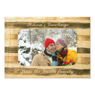 カスタマイズ可能な冬の挨拶状の木フレーム カード