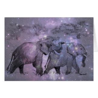 カスタマイズ可能な冬の象 カード