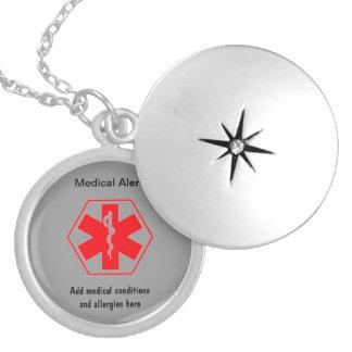 カスタマイズ可能な医学の注意深いネックレス シルバープレートネックレス