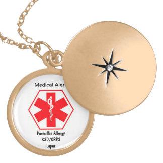 カスタマイズ可能な医学の注意深いネックレス ロケットネックレス