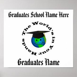 カスタマイズ可能な卒業の証明書 ポスター