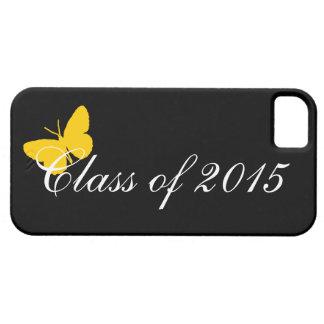 カスタマイズ可能な卒業-黒および金ゴールドの蝶 iPhone SE/5/5s ケース