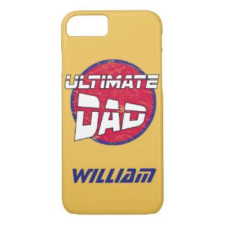 カスタマイズ可能な名前および色の最も最高のなパパのロゴ iPhone 8/7ケース