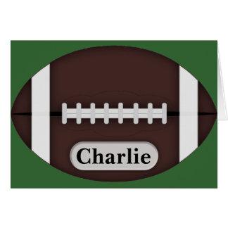 カスタマイズ可能な名前のかわいいフットボール カード