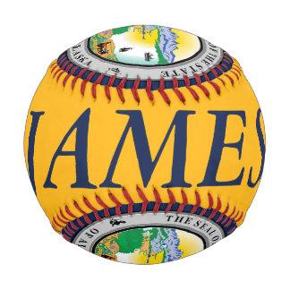 カスタマイズ可能な名前のアラスカのシールの野球 野球ボール