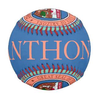カスタマイズ可能な名前のアリゾナのシールの野球 野球ボール