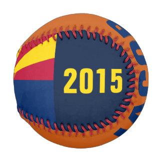 カスタマイズ可能な名前のアリゾナの旗の野球 野球ボール