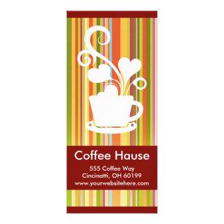 カスタマイズ可能な喫茶店の棚カード ラックカード