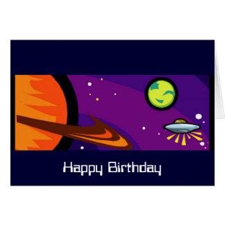 カスタマイズ可能な土星への宇宙船 カード