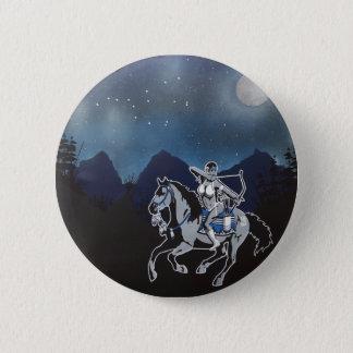 カスタマイズ可能な女の子ボタンの上の先住民Pin 5.7cm 丸型バッジ