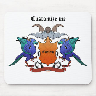 カスタマイズ可能な始祖鳥の紋章付き外衣- マウスパッド