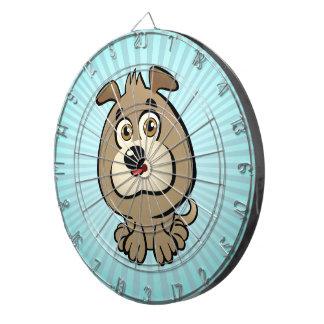 カスタマイズ可能な子犬の漫画 ダーツボード