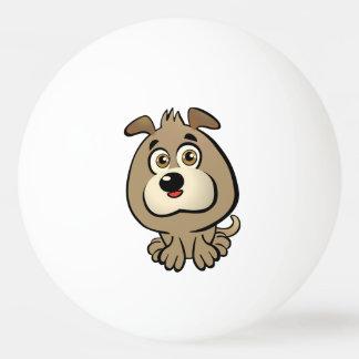 カスタマイズ可能な子犬の漫画 卓球 ボール