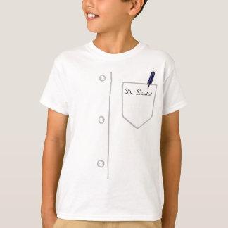 カスタマイズ可能な実験室のコートの青年Tシャツ-! Tシャツ