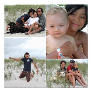 カスタマイズ可能な家族写真のコラージュのプリント フォトプリント