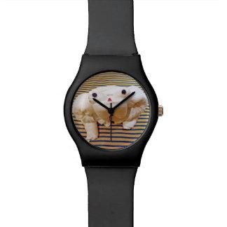 カスタマイズ可能な巡航タオル動物のカエル 腕時計