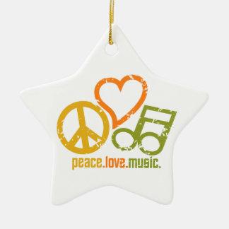 カスタマイズ可能な平和愛音楽オーナメント セラミックオーナメント