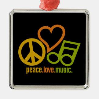 カスタマイズ可能な平和愛音楽オーナメント メタルオーナメント