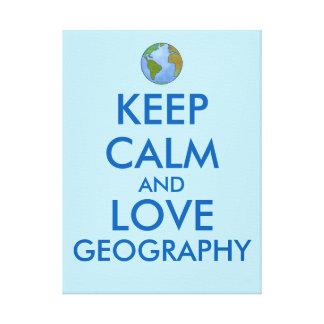 カスタマイズ可能な平静および愛地理学を保って下さい キャンバスプリント