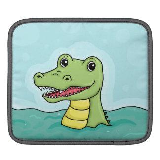 カスタマイズ可能な幸せなワニ iPadスリーブ