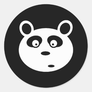 カスタマイズ可能な愛らしいパンダの白い顔 ラウンドシール