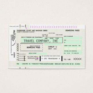 カスタマイズ可能な搭乗券 名刺
