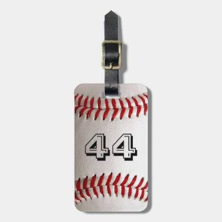 カスタマイズ可能な数を用いる野球 バッグタグ