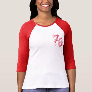 カスタマイズ可能な数76 Tシャツのデザイン Tシャツ